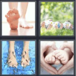 4-pics-1-word-feet