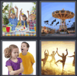 4 Pics 1 Word children party