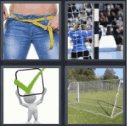 4 pics 1 word measuring waist