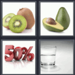 4 Pics 1 Word Kiwi. Avocado.