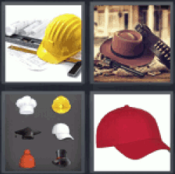 4 Pics 1 Word worker helmet