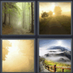 4 Pics 1 Word cold forest