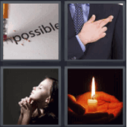 4 pics 1 word crossing fingers