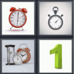 4 Pics 1 Word classic clock. Watches.