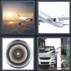 4 Pics 1 Word flying plane