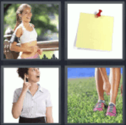 4 Pics 1 Word post it notes