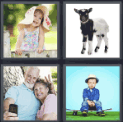 4 Pics 1 Word girl with hat