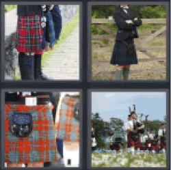 4 Pics 1 Word Scottish skirt