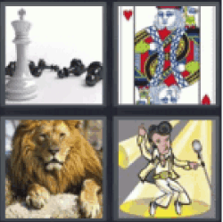 4 Pics 1 Word chess chips