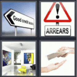 4 pics 1 word good credit score sign