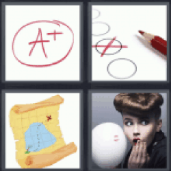 4 pics 1 word a+ map