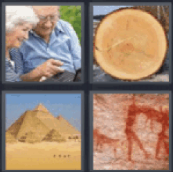 4 pics 1 word elderly couple
