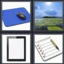 4 Pics 1 Word tablet