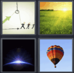 4 Pics 1 Word hot air balloon