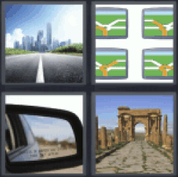 4-pics-1-word-road