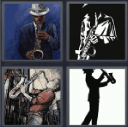 4 Pics 1 Word playing music