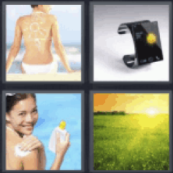 4 Pics 1 Word woman back