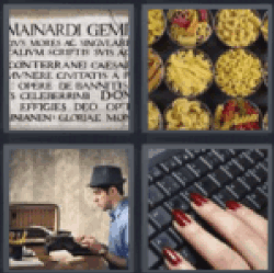 4 Pics 1 Word keyboard