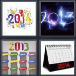 4-pics-1-word-year