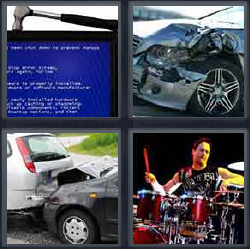 4 pics 1 word hammer on computer screen