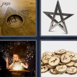 4 pics 1 word Ouija and runes