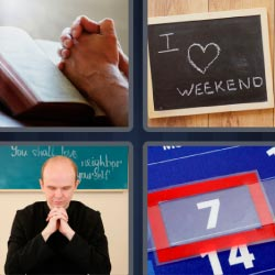 4 pics 1 word I love weekend