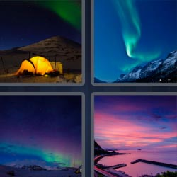 4 pics 1 word Colored sky