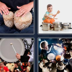 4 pics 1 word percussion instruments