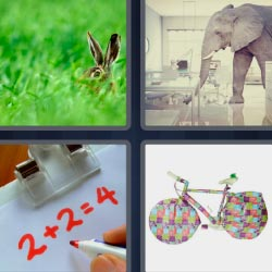4 pics 1 word rabbit elephant