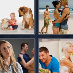 4 pics 1 word baby with dogs