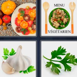 4 pics 1 word menu vegetarien