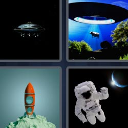 4 pics 1 word astronaut rocket