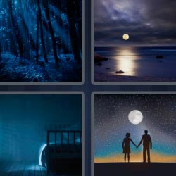 4 pics 1 word beach at night