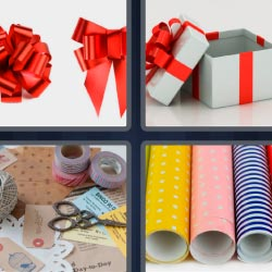 4 pics 1 word gift box