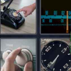 4 pics 1 word black telephone
