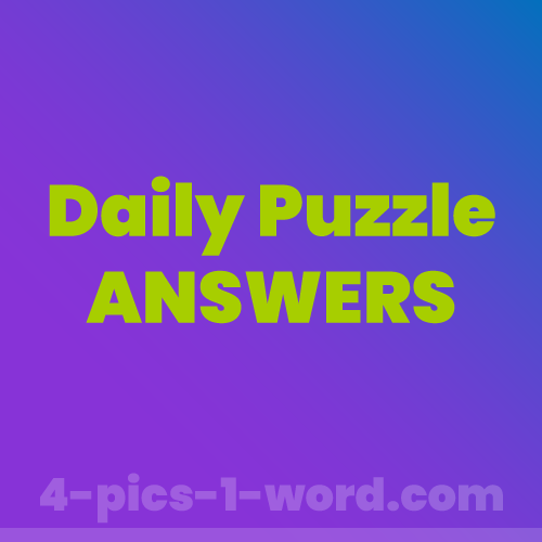 4 pics 1 word Daily Puzzle