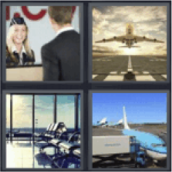 4 pics 1 word airplane