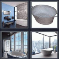 4-pics-1-word-bathtub