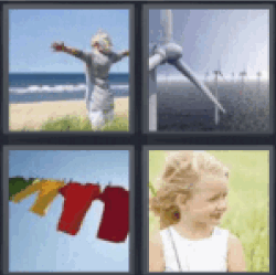 4 Pics 1 Word Woman on beach