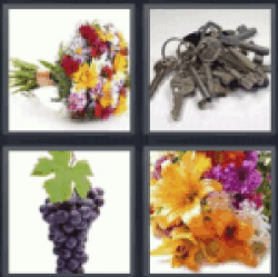 4 pics 1 word bouquet of flowers