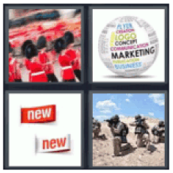 4 Pics 1 Word Red soldiers