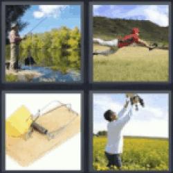4 pics 1 word man fishing
