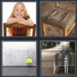 4 Pics 1 Word Girl on chair