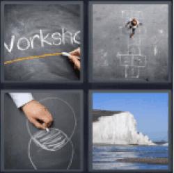 4-pics-1-word-chalk