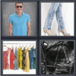 4 pics 1 word man with blue polo shirt