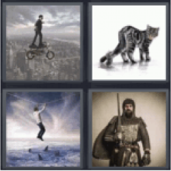 4 Pics 1 Word Man on tightrope