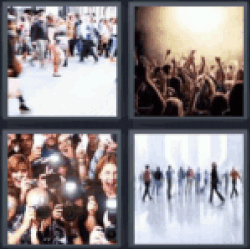 4 Pics 1 Word people walking
