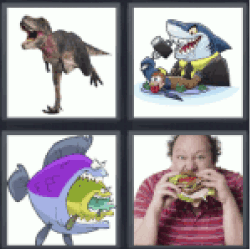 4-pics-1-word-devour