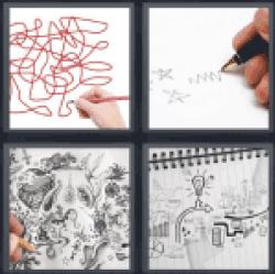 4-pics-1-word-doodle