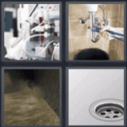 4 pics 1 word shower drain